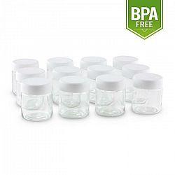 Klarstein náhradný pohár pre Gaia jogurtovač, skrutkovací uzáver, 210 ml, 12 kusov
