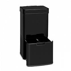 Klarstein Touchless Black Stainless Steel, odpadkový kôš, senzor, 72 l, čierny