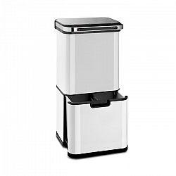 Klarstein Touchless Ultraclean, odpadkový kôš so senzorom, 60 l, 3 nádoby, ušľachtilá oceľ, biely