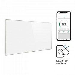 Klarstein Wonderwall 600 Smart, infrapanel, infračervený ohrievač, 60 x 100 cm, 600 W, týždenný časový spínač, IP24, biely