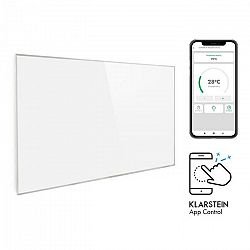 Klarstein Wonderwall 960 Smart, infračervený ohrievač, 80 x 120 cm, 960 W, týždenný časovač, biely